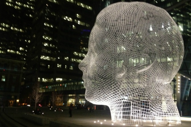 Exploring Calgary's heady new piece of public art!