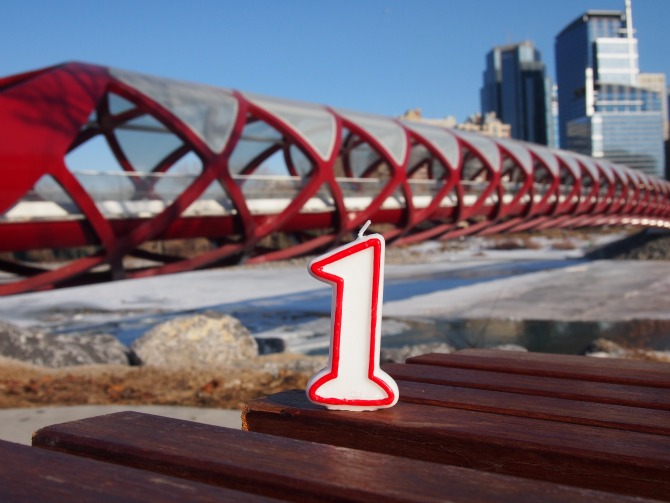 Calgary's Peace Bridge turns one!