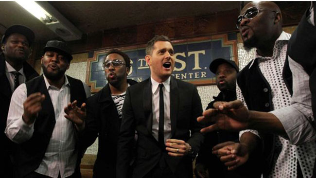 Video: Michael Bublé takes over the NYC subway!