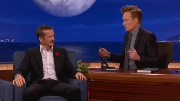 Video: Chris Hadfield airs his dirty laundry with Conan!