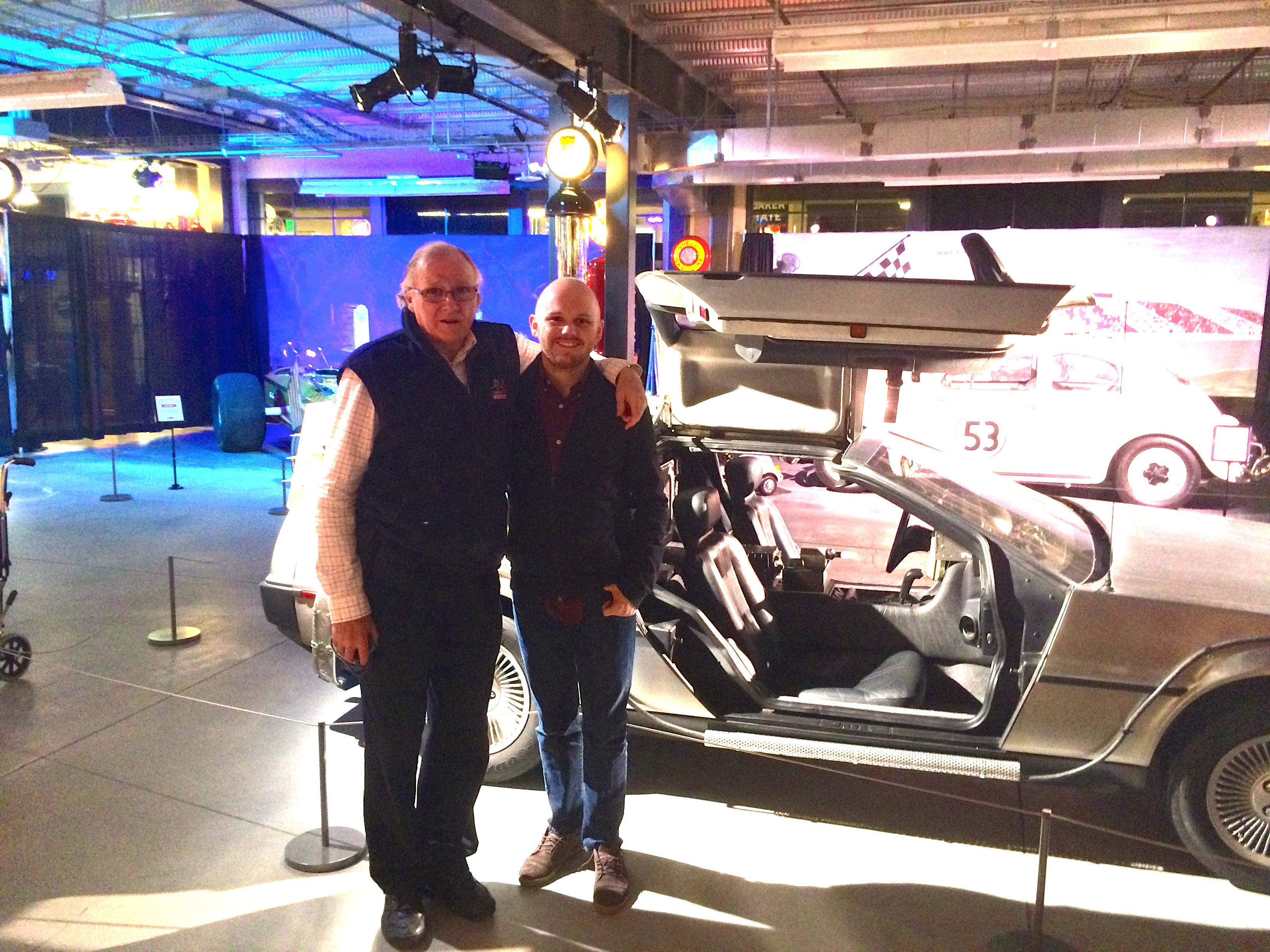 Travel: Checking out the stars' cars with my dad!
