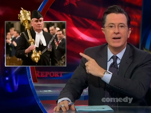 "Stephen Colbert celebrates Kevin Vickers: ""To hell with Bruce Willis!"""