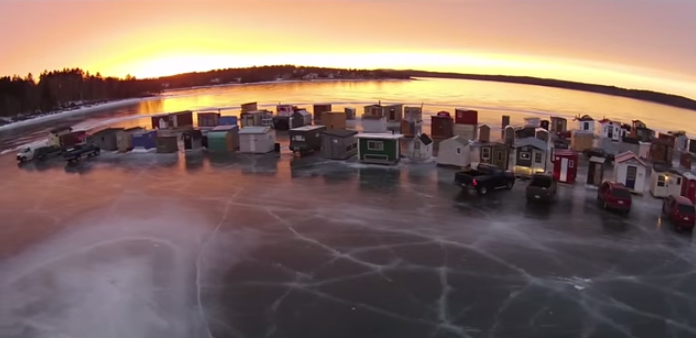 Unbelievable drone footage of New Brunswick's ice village!