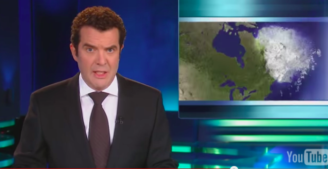 "Video: Rick Mercer renames Atlantic Canada ""Snowbank."""