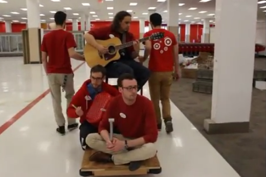 "Target Canada employees sing ""Closing Time"" as stores finally close."
