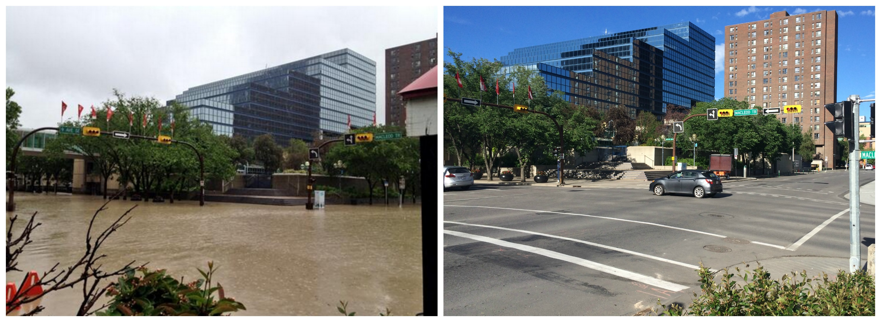 Eight Calgary flood photos recreated two years later