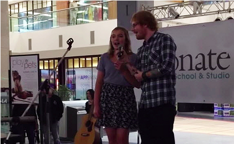 Ed Sheeran interrupted a teen's performance at the West Edmonton Mall and it's perfect!