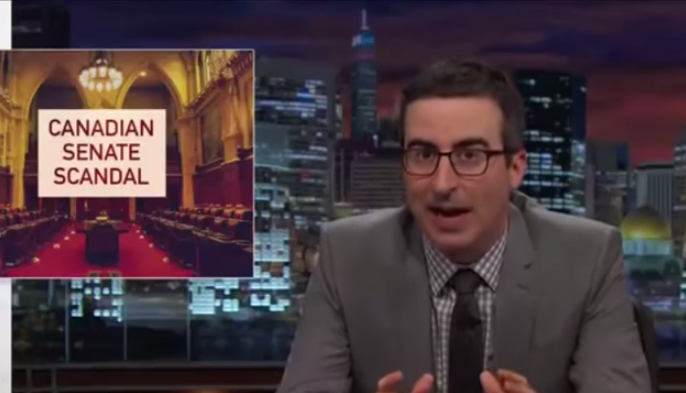 John Oliver weighing in on the Canadian Senate scandal is the best thing since Danger Bay!