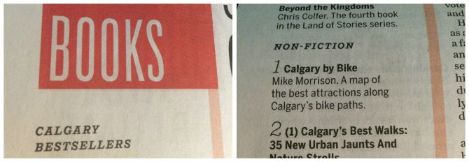 Calgary By Bike is a number one best seller!