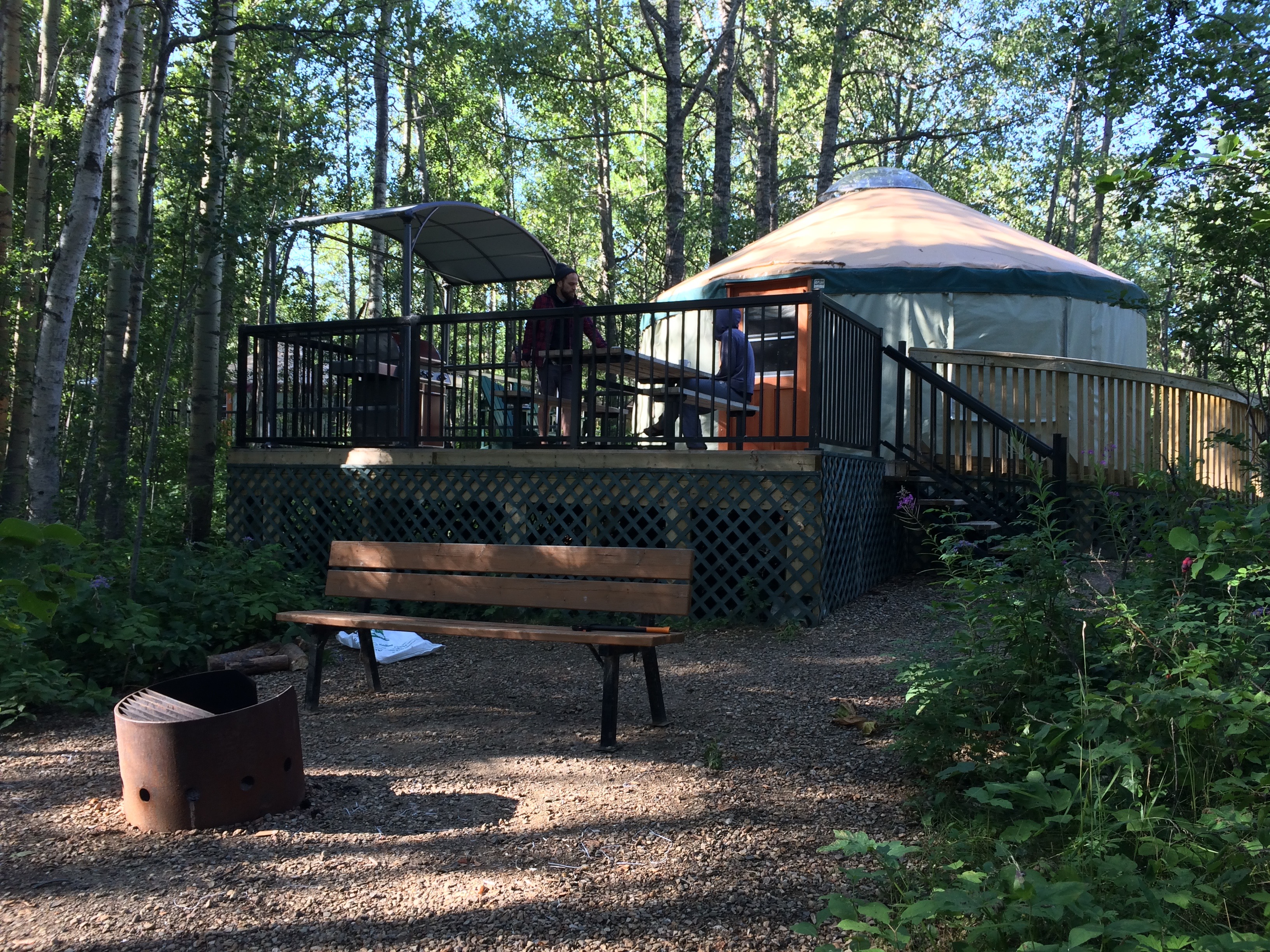 Make way for the yurts! Comfortable camping has come to Alberta!