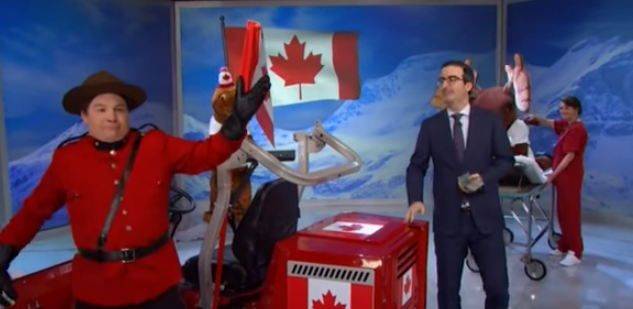 John Oliver and Mike Myers beg Canadians to not vote for Stephen Harper