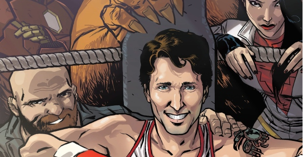 Justin Trudeau joins Iron Man on the cover of Marvel's latest comic!
