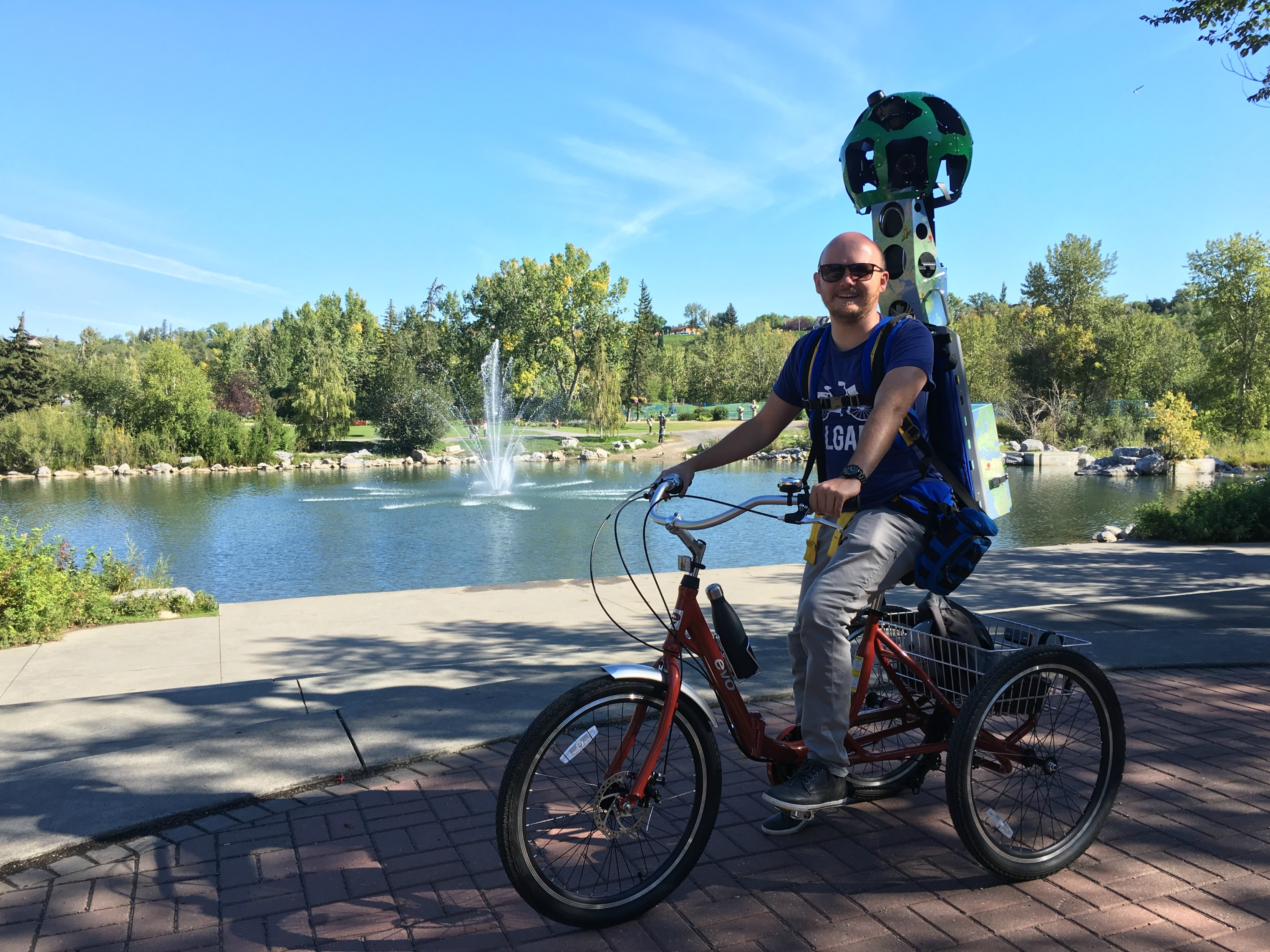 What's it like to be a Google Street View trekker for a day?