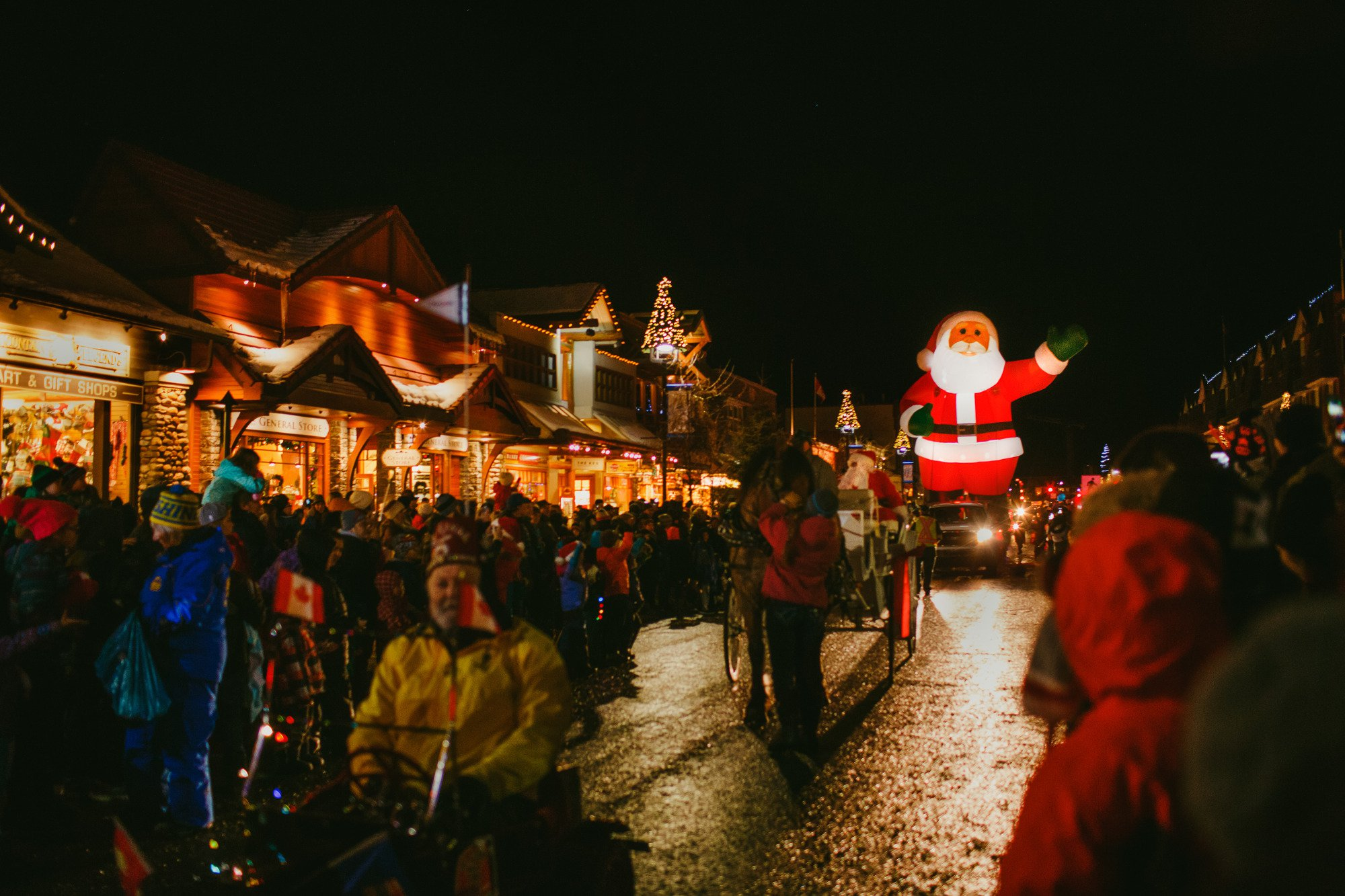 Calgary doesn't have a Santa Claus parade, so here's the nearby towns that do!
