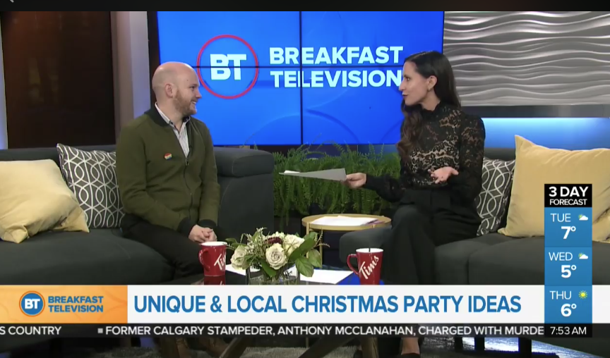 TV segment: Local & unique holiday party ideas!