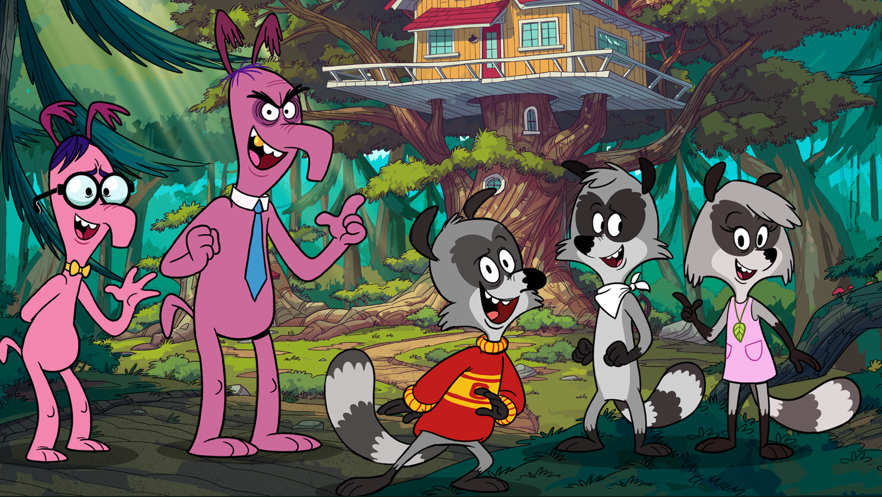 Here's your first look at The Raccoons reboot!