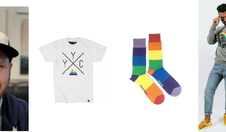 Calgary companies with Pride-themed clothing for a cause!