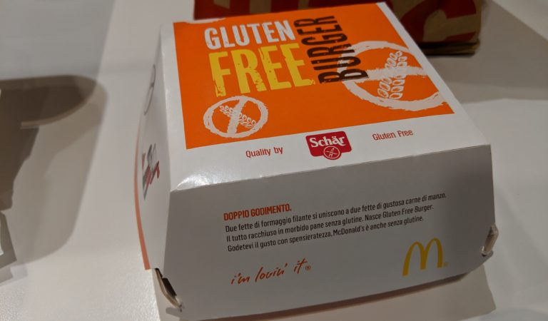 In Italy, you can get a gluten-free burger at McDonald's!