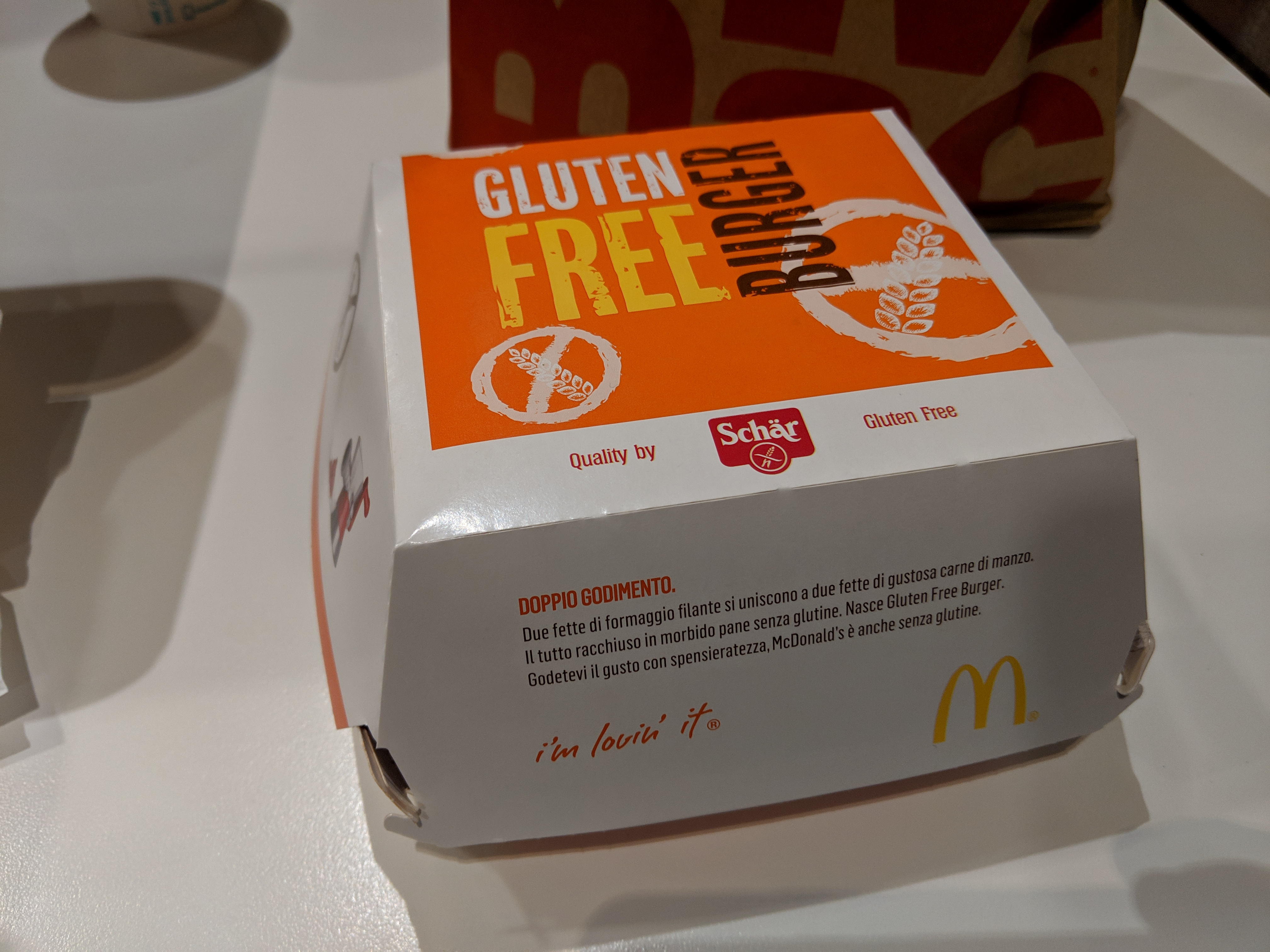 In Italy, you can get a gluten-free burger at McDonald's